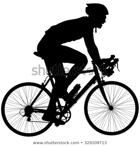 a silhouette of a cyclist stock photo © vlad_star
