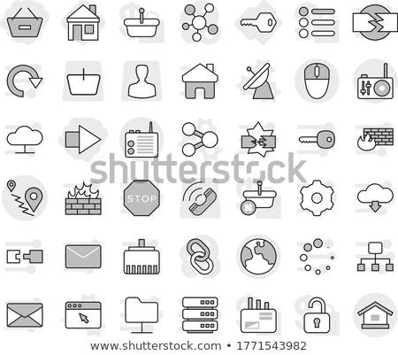 Stock fotó: Bevásárlókosár · Föld · ház · telefon · szimbólum · internet