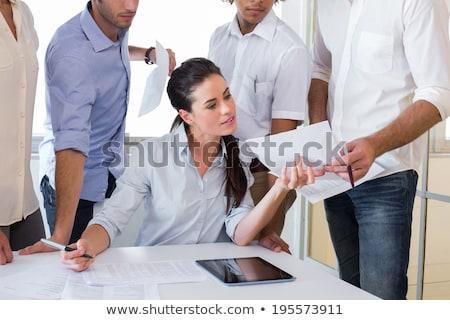 empresarios · listo · inicio · competencia · desafiar · negocios - foto stock © 6kor3dos