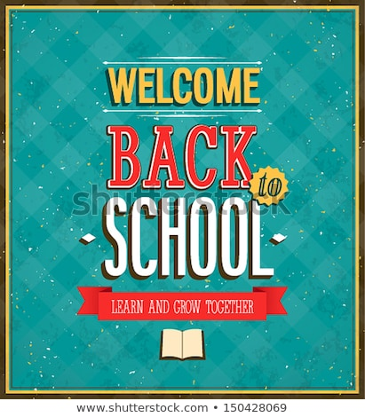 back to school beautiful teacher and books vector illustration stock photo © carodi