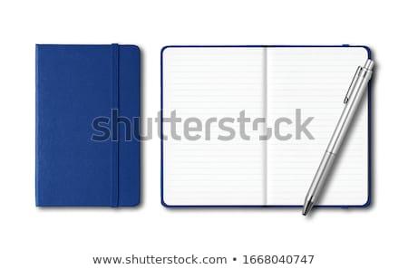 mavi · kapak · defter · beyaz · iş · kâğıt - stok fotoğraf © witthaya