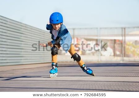 Garçon skate central image neuf ans formation Photo stock © Traven