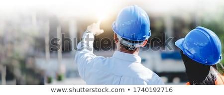 helm · poster · verplicht · metaal · teken · Blauw - stockfoto © photography33