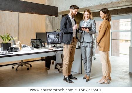 архитектурный фирма женщину служба девушки ноутбука Сток-фото © photography33