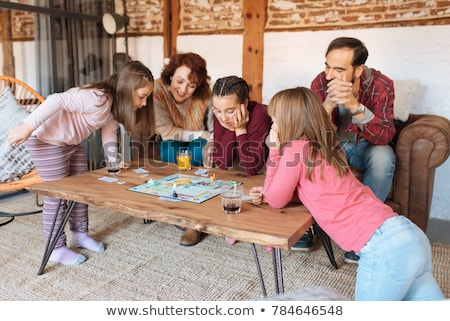 Young child playing a board game Stock photo © photography33