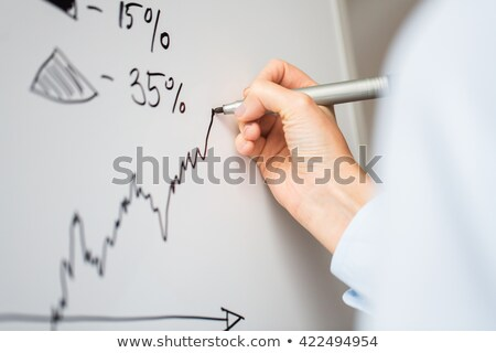 Teacher drawing graph on whiteboard Stock photo © photography33