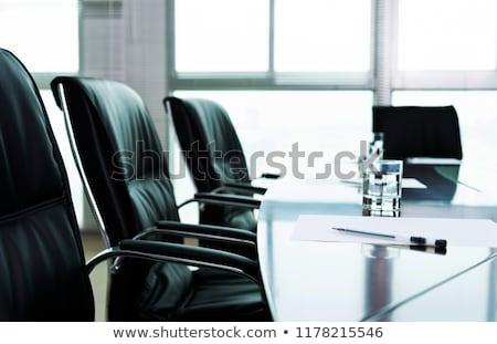 işyeri · ofis · mobilya · ayarlamak · yalıtılmış - stok fotoğraf © photography33