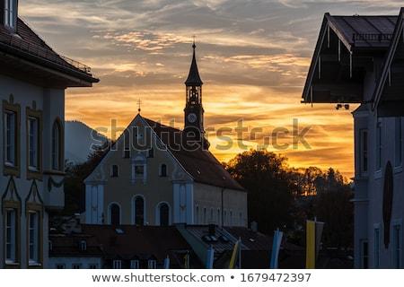 Historic church steeple in the town of Bad Toelz, Bavaria Stock photo © haraldmuc