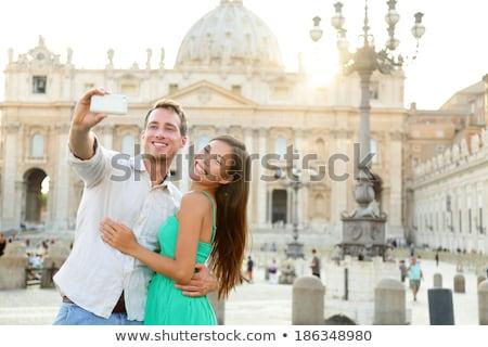 Vatikán Vatikán szent tér egy népszerű Stock fotó © lightpoet