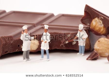 Szakács szakács szobrocska szép szolgáltatás állás Stock fotó © jonnysek