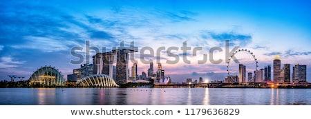 Singapore at dusk Stock photo © joyr