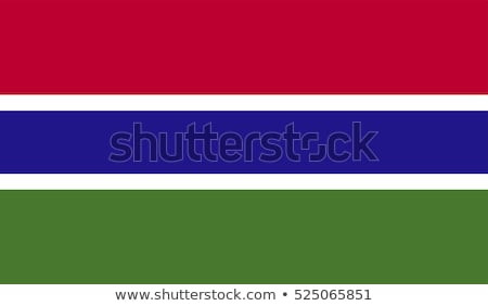 Stock photo: The national flag of Gambia