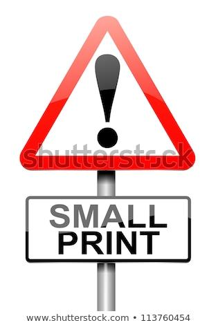 Ler pequeno imprimir aviso placa sinalizadora Foto stock © tashatuvango