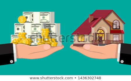 konut · borç · dolar · örnek · renkli · 3D - stok fotoğraf © head-off