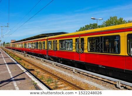 moving s bahn in berlin stock photo © elxeneize