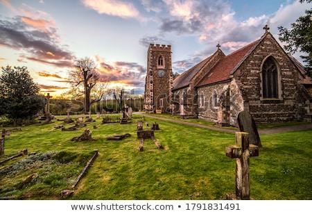 rural · grave · marcador · pedra · campo - foto stock © iofoto
