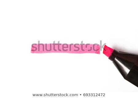 pink highlighter pen stock photo © chrisdorney