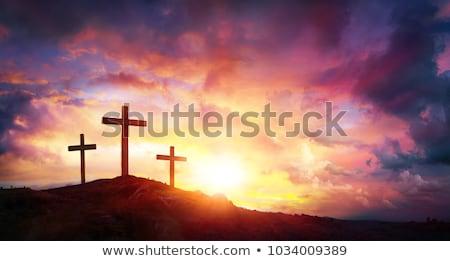 cross · Gesù · Cristo · Hill · sole · luce - foto d'archivio © taigi