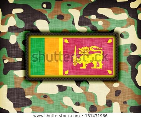 álca egyenruha Sri Lanka zászló textúra absztrakt Stock fotó © michaklootwijk