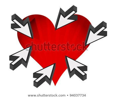 love heart with cursor arrows around with a white background Stock photo © alexmillos