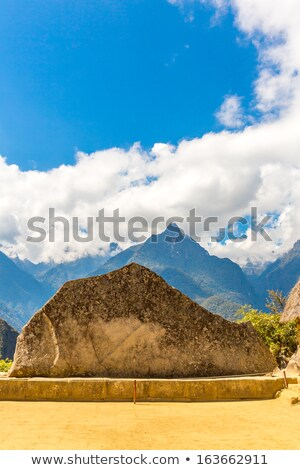 The famous 32 angled stone in Machu Picchu, Peru Stock photo © pxhidalgo