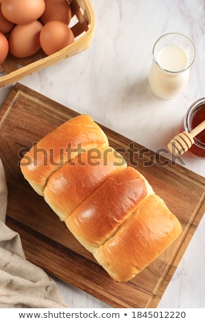 хлеб натюрморт различный молоко стекла завода Сток-фото © mallivan