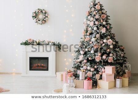 рождественская елка загрузка подарок снега зеленый весело Сток-фото © g215