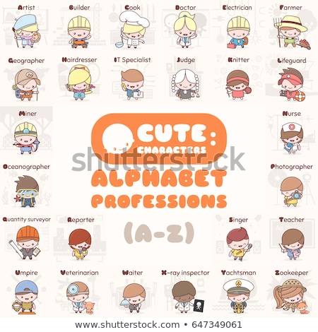 Professions photographe cute kawaii fille Photo stock © Ansy