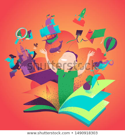 learn to be happy book concept stock photo © maxmitzu