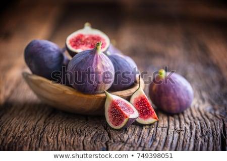 Higo aislado blanco frescos semillas dieta Foto stock © oly5
