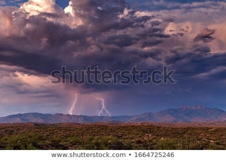 Muson bulutlar çöl Nevada Stok fotoğraf © emattil