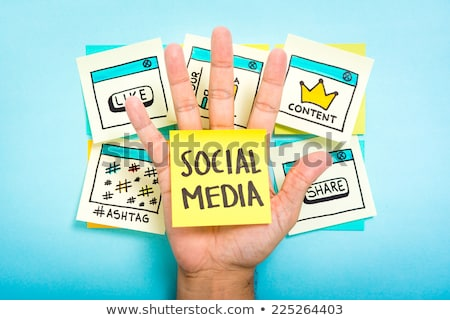 Stockfoto: Social · media · macht · vector · business · internet · wereldbol