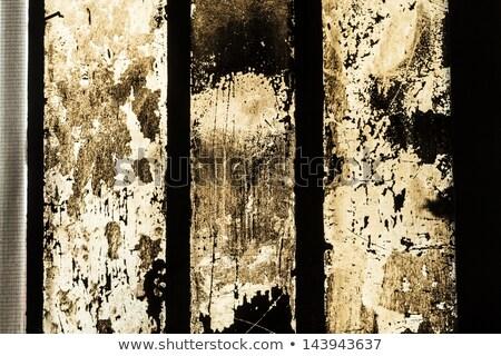 Koszos ablak szén fekete kosz vasaló Stock fotó © meinzahn