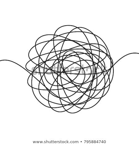 Vector abstract chaotisch zwart wit papier school Stockfoto © freesoulproduction