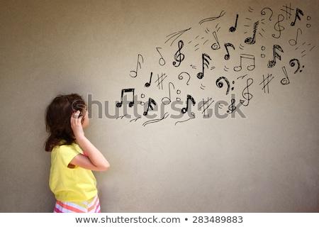 fül · zene · hallgat · szórakoztatás · audio · szimbólum - stock fotó © tashatuvango