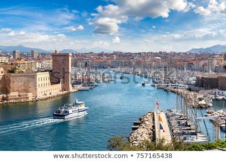 Marselha · França · edifício · parque · estátua · turismo - foto stock © amok