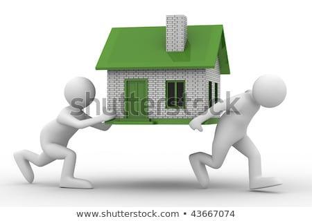 Dos pequeño casa blanca casas Foto stock © cherezoff