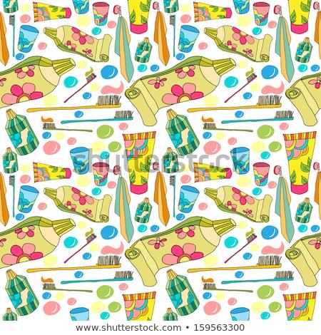 sketch tooth brush vector seamless pattern stock photo © kali