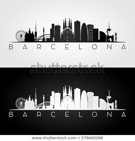 Skyline · Barcelona · detaillierte · Spanien · Gebäude · Kirche - stock foto © blamb