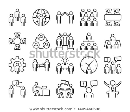 Foto stock: Flat Vector Icons For Freelance And Business