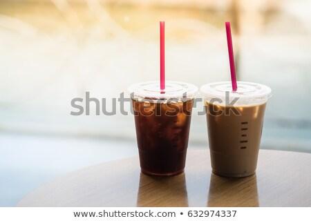 Via Cup ghiacciato caffè stock Foto d'archivio © nalinratphi