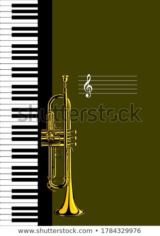 vector · trompeta · color · jazz · sonido · blanco - foto stock © leonido