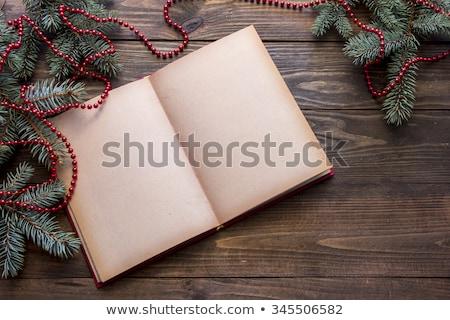 receta · libro · mesa · de · cocina · madera · cocina · mesa - foto stock © zerbor