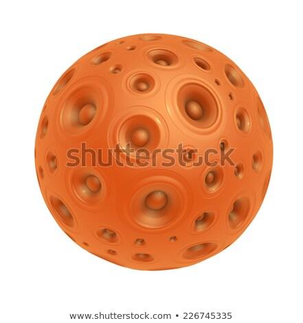 3D narancs hangszóró hang fehér zene Stock fotó © Melvin07
