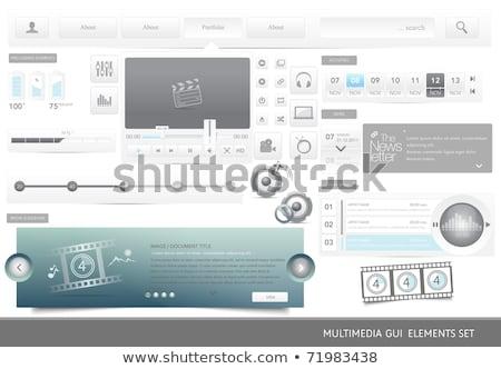 MP3 Download Blue Vector Icon Button Stock photo © rizwanali3d
