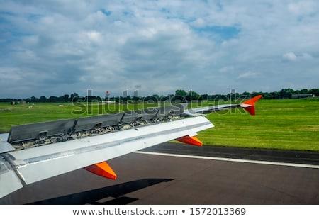 Jet · самолета · захватывающий · закат · небе · самолет - Сток-фото © meinzahn