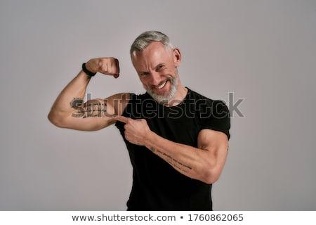 Man tonen biceps jonge knap sexy Stockfoto © restyler