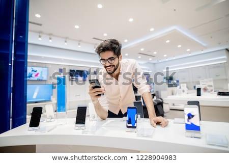 vrouw · opticien · test · bril · winkel - stockfoto © photography33