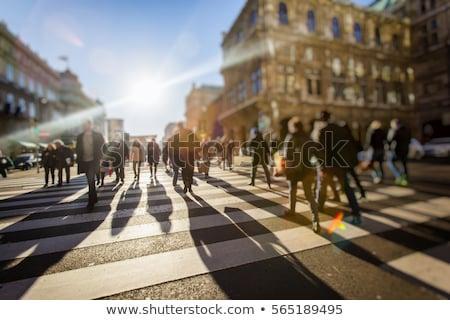 Crowd of People Walking On the Street in Bokeh Stock photo © stevanovicigor