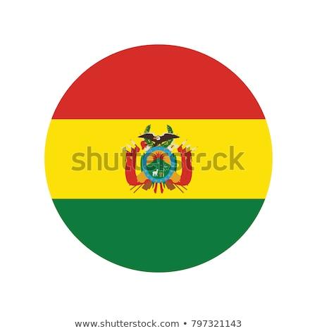 gomb · zászló · Bolívia · fém · keret · utazás - stock fotó © mikhailmishchenko